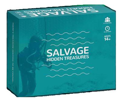 An image of Salvage Hidden Treasures board game box