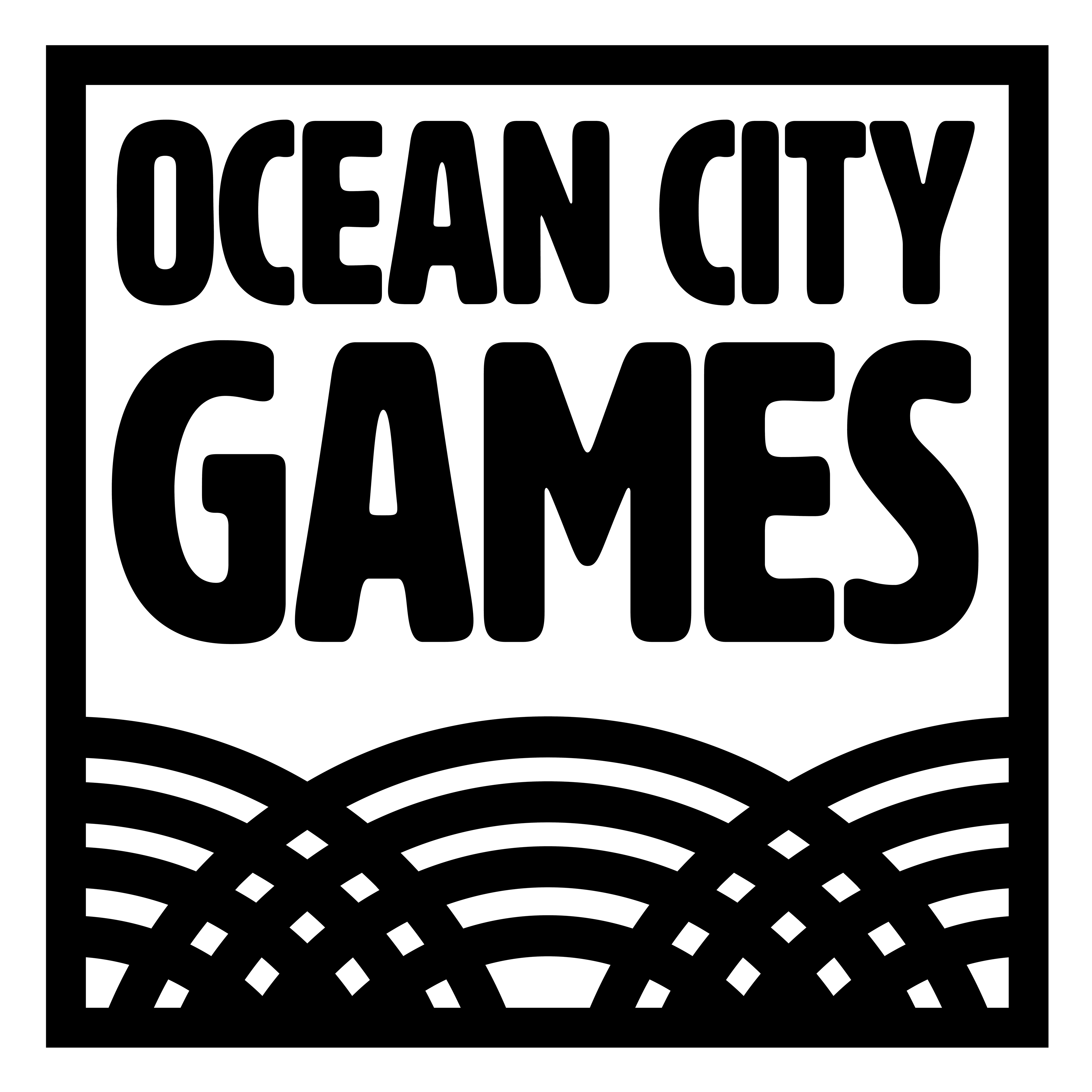 Ocean City Games Ltd Logo with a white background