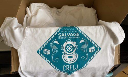 Salvage Hidden Treasures crew t-shirt